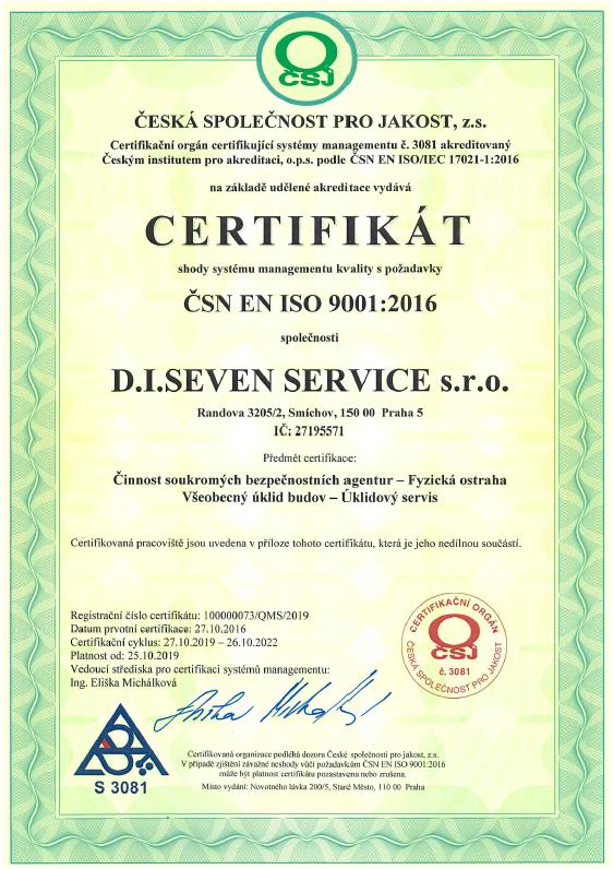 Certifikat - SERV - 2019-2022 - QMS